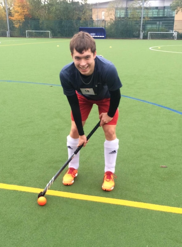 Zac Goodwin on the hockey pitch
