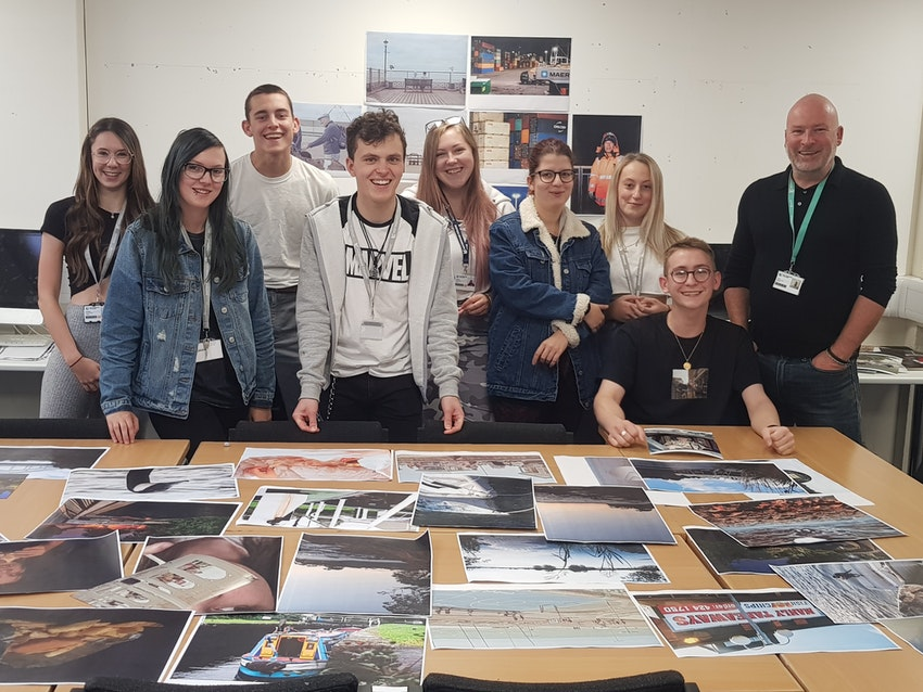Some of the Nottingham students with course leader Matt Bunn (far right)