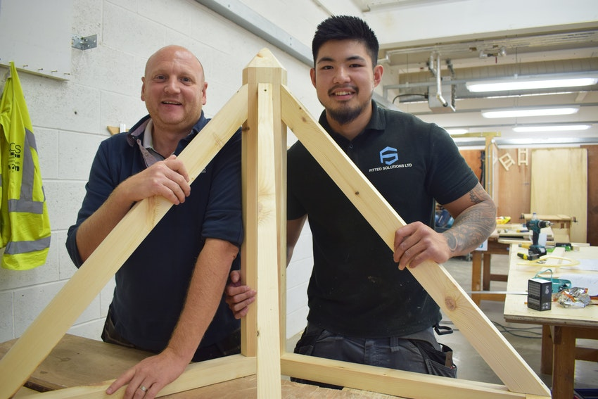 Dean and Jason in the workshop at Basford
