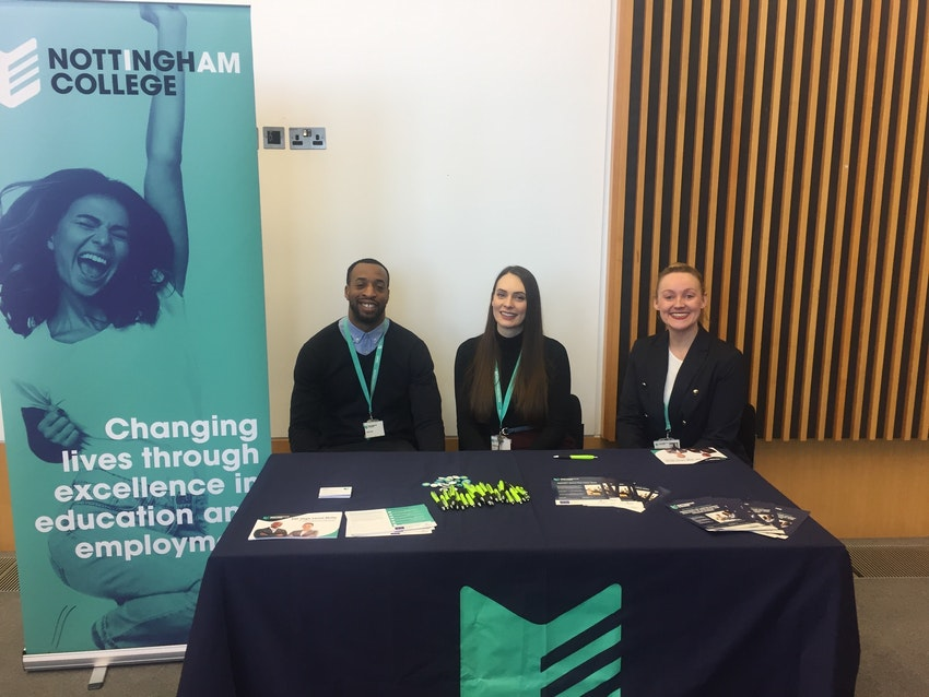 Employer Engagement Officers Chavalier Douglas and Joanne Smith with Research Skills Lead Susannah Chambers