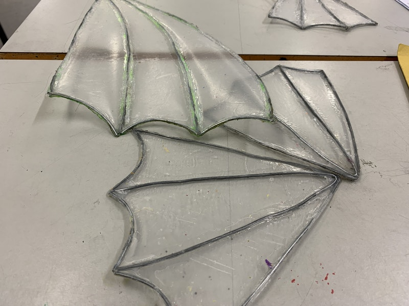 Mermaid theme coming together with wire and waste plastic