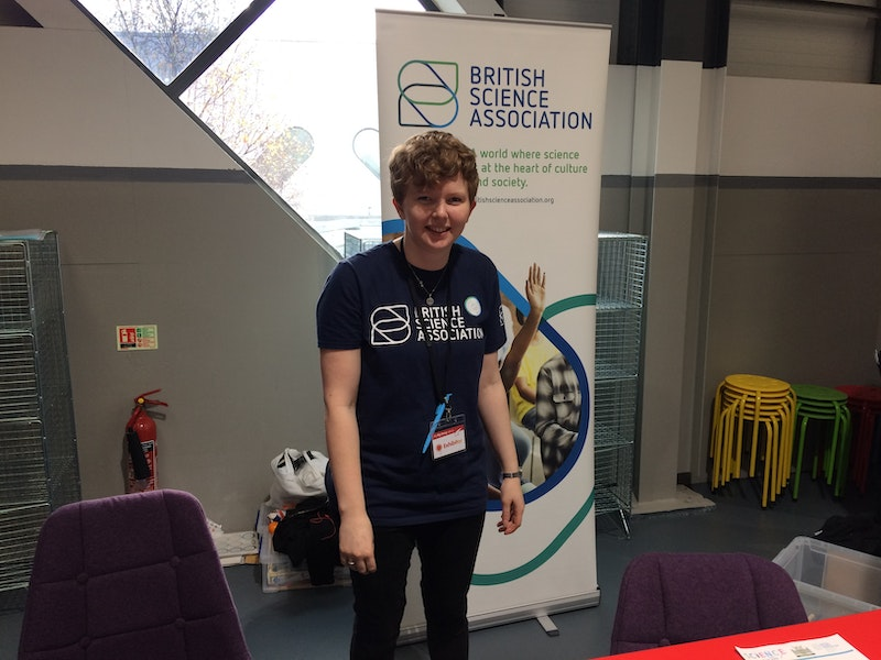 Helena French, from the Nottingham Branch of the British Science Association, brought lots of simple but engaging activities along.