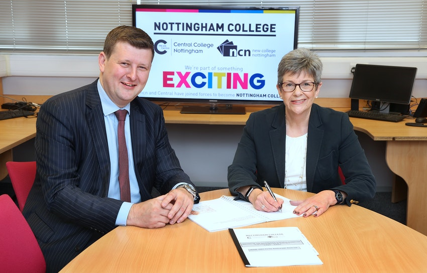Nottingham College Merger Signing 5