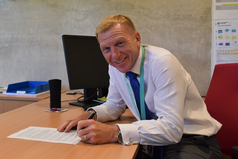 Nottingham College CEO John van de Laarschot signed the charter on behalf of the College