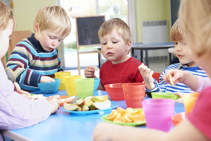 Children playing in a nursery setting