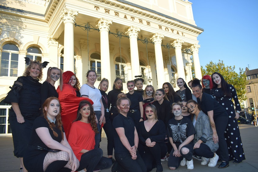 Not forgetting it was Halloween the same week, make-up students didn't miss the opportunity to get into the spooky spirit of things!