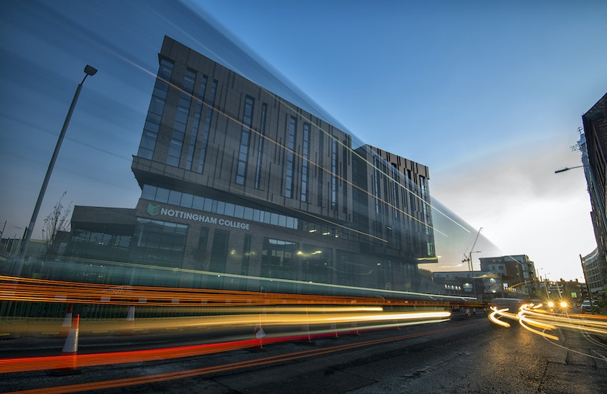College Light Trails Tracey Whitefoot