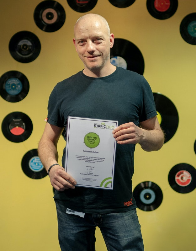 Nottingham College Music, Media and Performing Arts Coordinator, Andy Oakley