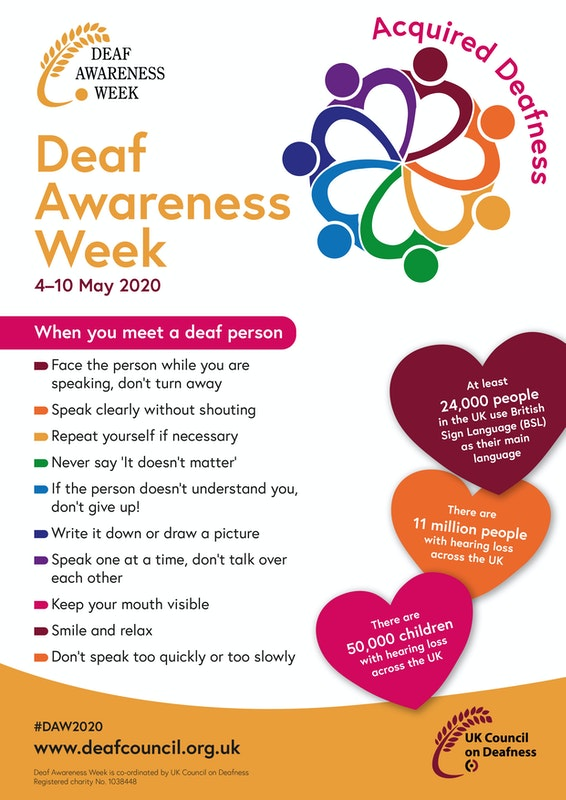 Deaf Awareness Week 2020 Poster 1 Image