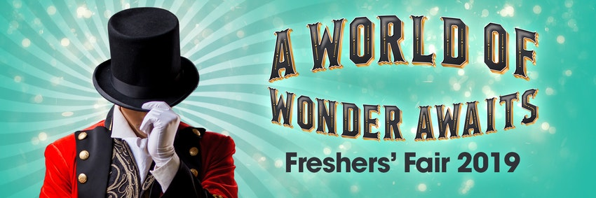 Don't miss this year's circus-themed Freshers' Fair!