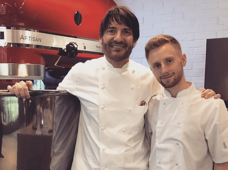 l-r Eric Lanlard and Cameron Lamb