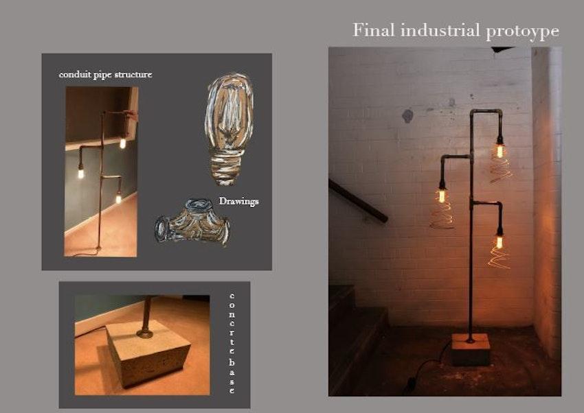 Leanne's industrial lamp