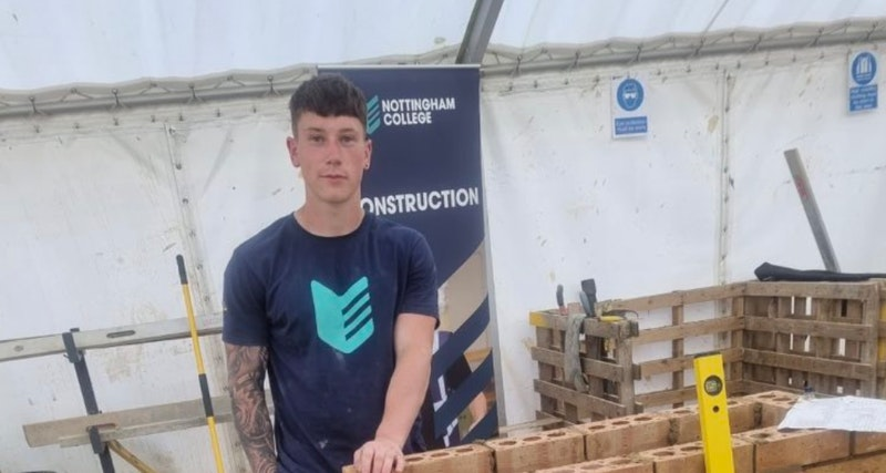 Connor at the Guild of Bricklayers competition.