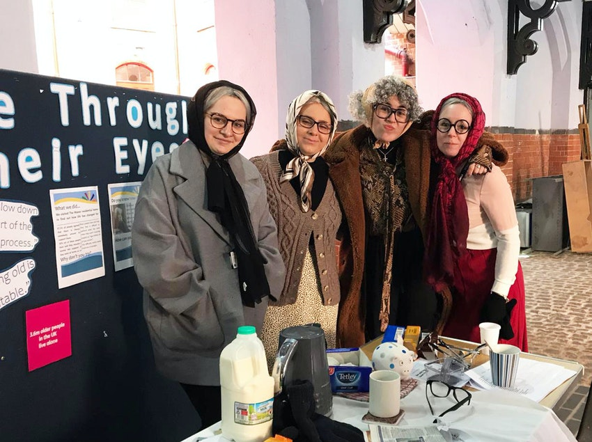 Access to Nursing students get into character for their 'Life Through Their Eyes' stall