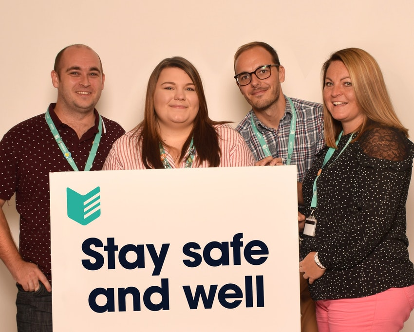 Pic taken a while ago! Our Student Wellbeing team